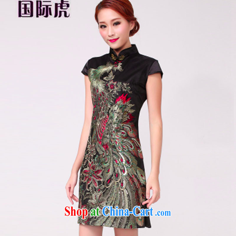 2015 bridal dresses serving toast wedding dress retro improved annual fashion dress short black S