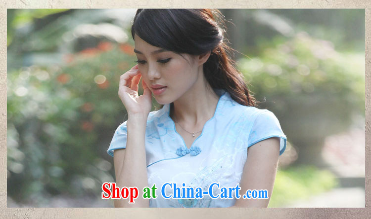 Stylish retro dresses 2015 new cheongsam dress dresses summer floral XL pictures, price, brand platters! Elections are good character, the national distribution, so why buy now enjoy more preferential! Health