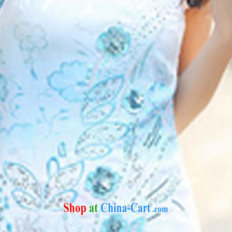 Stylish retro dresses 2015 new cheongsam dress dresses summer XL suits, International tiger, shopping on the Internet