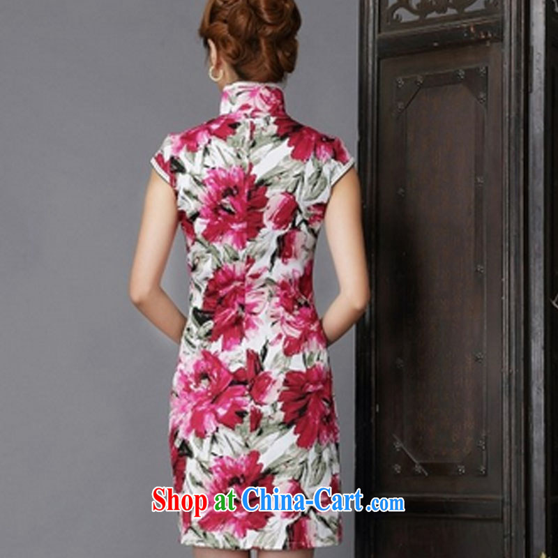 2015 New floral cheongsam dress stylish and improved Chinese qipao cheongsam floral XL, the international standard, and, shopping on the Internet