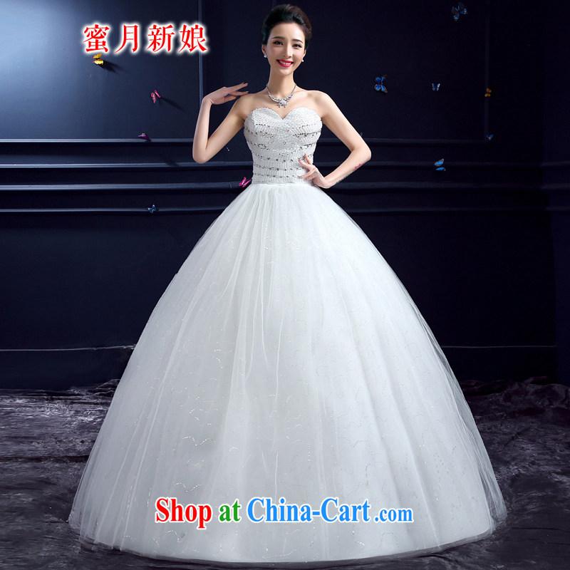 wedding dresses 2015 new wedding dresses honeymoon bridal erase chest wedding Korean-style luxury wood drill with wedding white XXL
