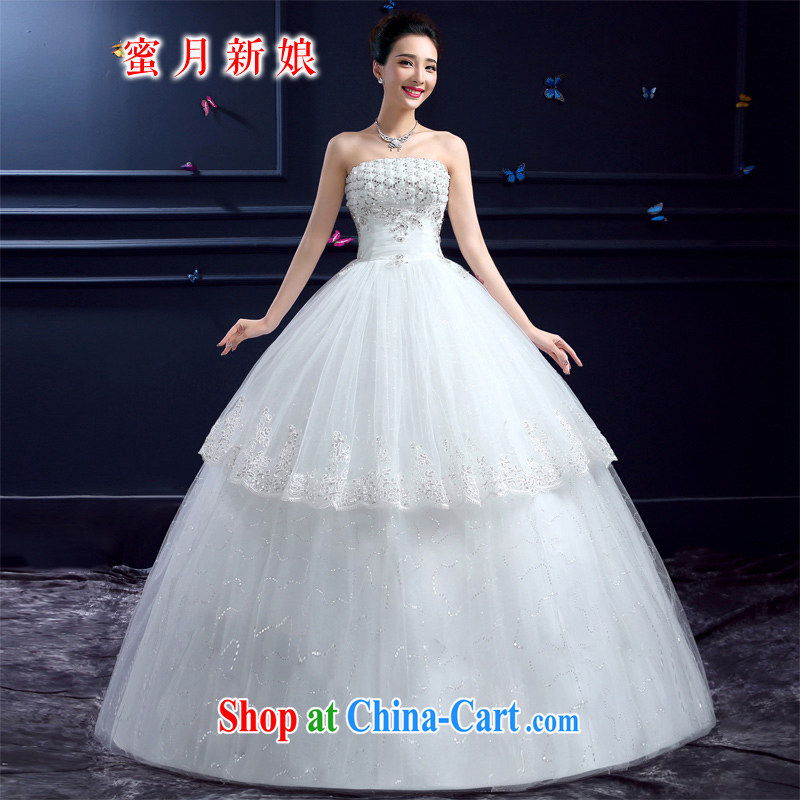wedding dresses 2015 new wedding dresses honeymoon bridal erase chest wedding Korean-style luxury, with wedding white XXL