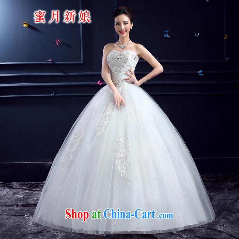 wedding dresses 2015 new wedding dresses honeymoon bridal erase chest wedding luxury, lace with wedding white M