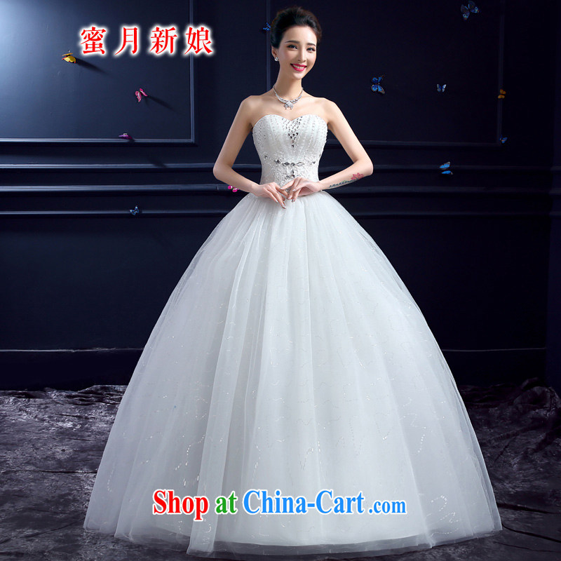 wedding dresses 2015 new wedding dresses honeymoon bridal erase chest wedding sexy luxury lace Princess wedding white XXL