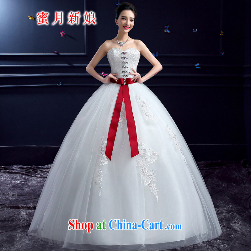 wedding dresses 2015 new wedding dresses honeymoon bridal erase chest wedding wood drill Princess with butterfly wedding dresses white XXL