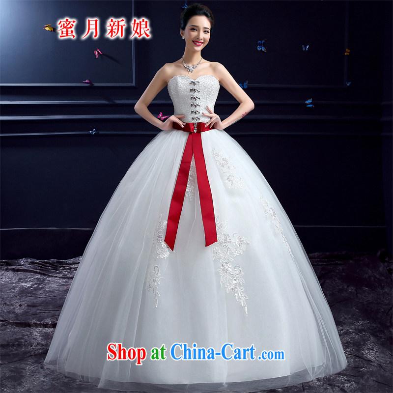 wedding dresses 2015 new wedding dresses honeymoon bridal erase chest wedding wood drill Princess with butterfly wedding dresses white XXL