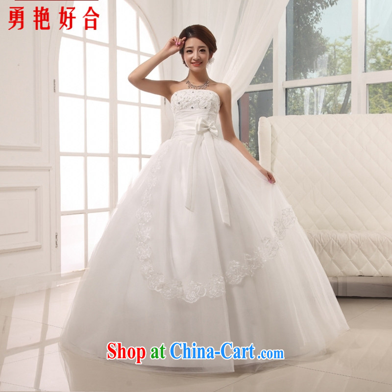 Yong-yan and 2015 new bowtie upscale erase Chest straps bridal wedding dresses with white. size is not returned.