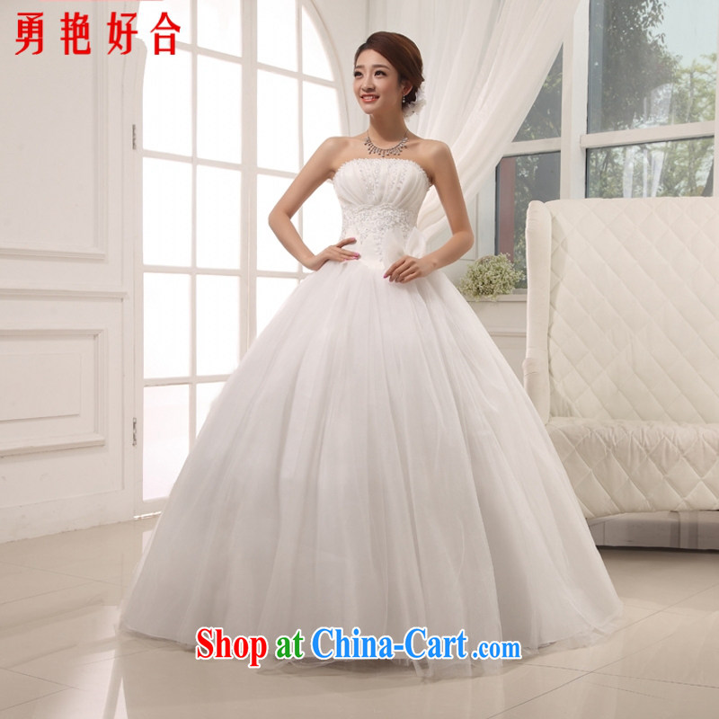 Yong-yan and 2015 new erase chest shaggy wedding Korean Princess wedding sweet elegant wedding Korean-style with white. size is not returned.
