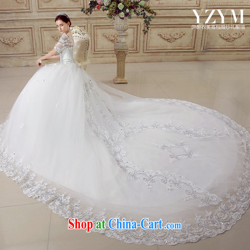 The drunken Yi Mei bridal wedding dresses antique palace, lace wedding dresses wedding dress wedding tail-tail-