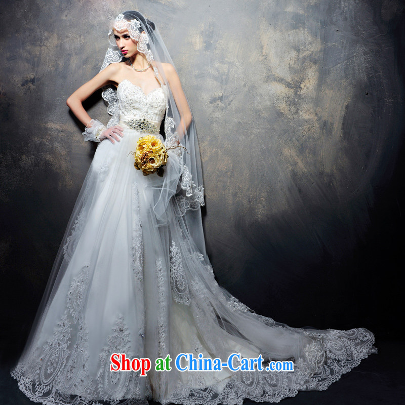 Garden 2015 summer wedding dresses new, advanced customization, Japan, and South Korea wedding dress wiped chest wedding H 694 tail 60 CM 173 - M