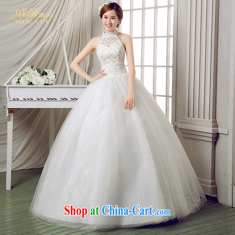 Ms Audrey EU Qi 2015 bridal wedding dresses hanging also inserts drill with shaggy skirts and elegant with large code wedding female white XXL