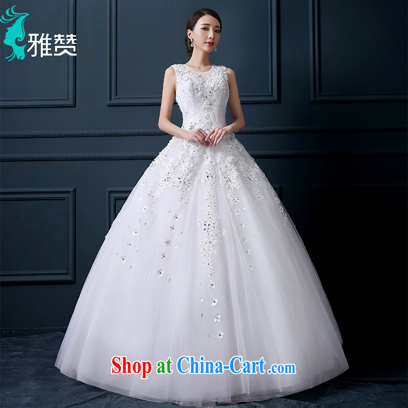 And Jacob his shoulders wedding dresses bridal graphics thin package shoulder leak back high water drilling 2015 summer new Princess with skirt white XXL