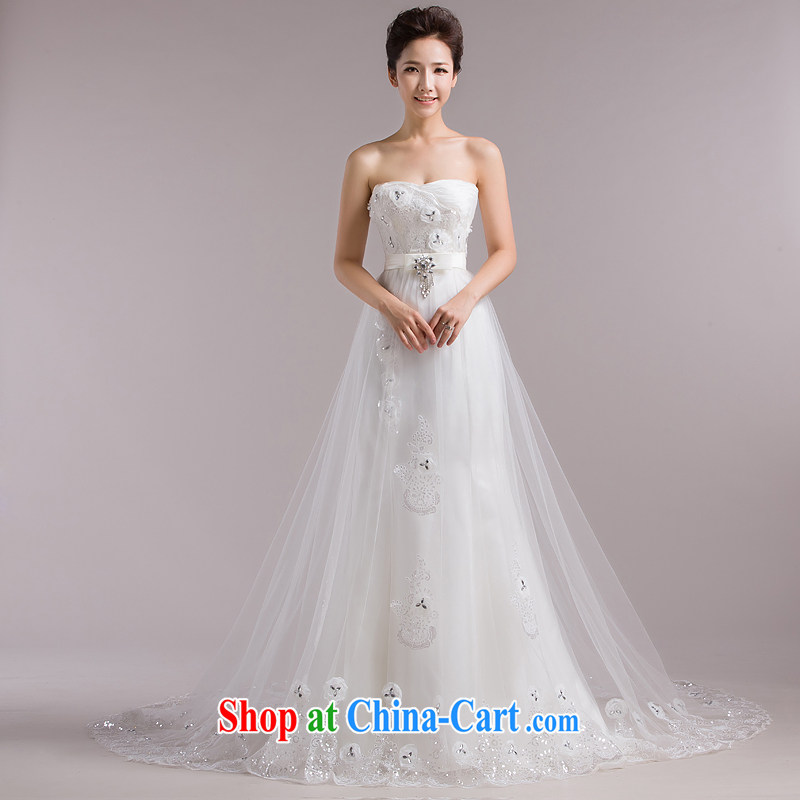 Love, according to China's 2015 new wiped his chest and tail wedding Korean lace-up waist straps cultivating crowsfoot wedding packages and graphics thin wood drill white wedding dresses white. Do not return does not switch