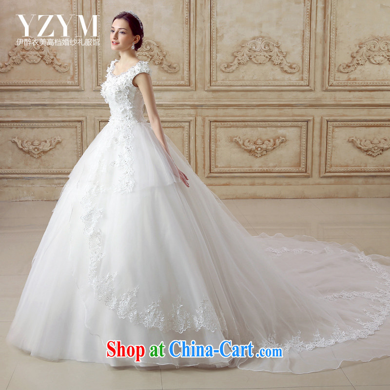 The drunken Yi Mei bridal wedding dresses 2015 summer new Butterfly Festival back exposed the tail wedding round-collar with wedding dress to remove trailing wedding-tail-