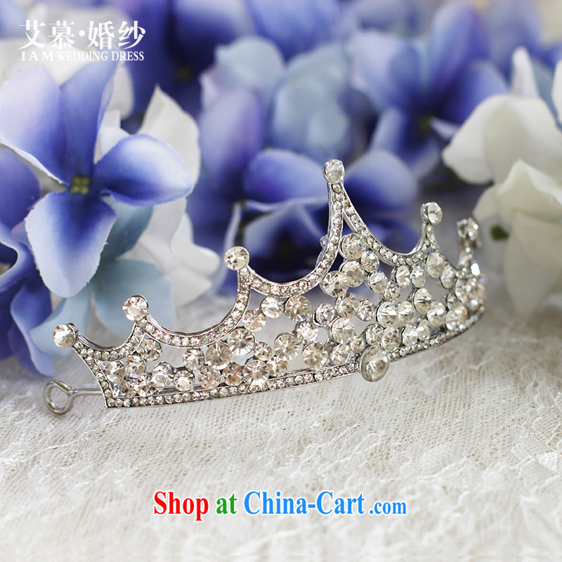 On the wedding dresses new 2015 rain and crystal Crown head-dress Crown hair accessories jewelry and ornaments white