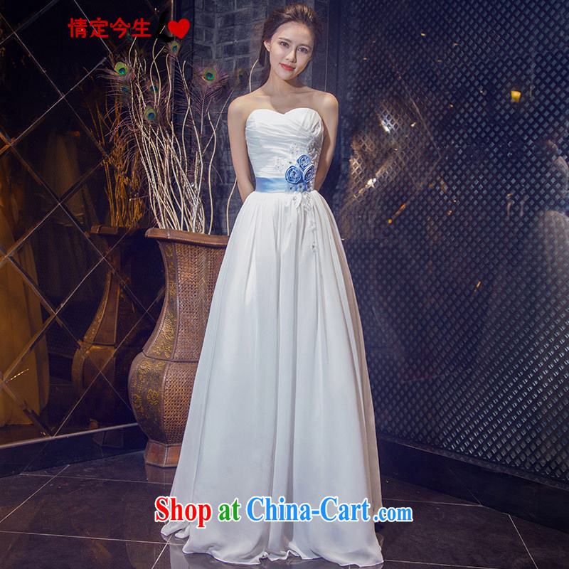 Love Life new 2015 Korean chest bare simple and stylish straps bridal white with graphics thin-waist wedding white XXL