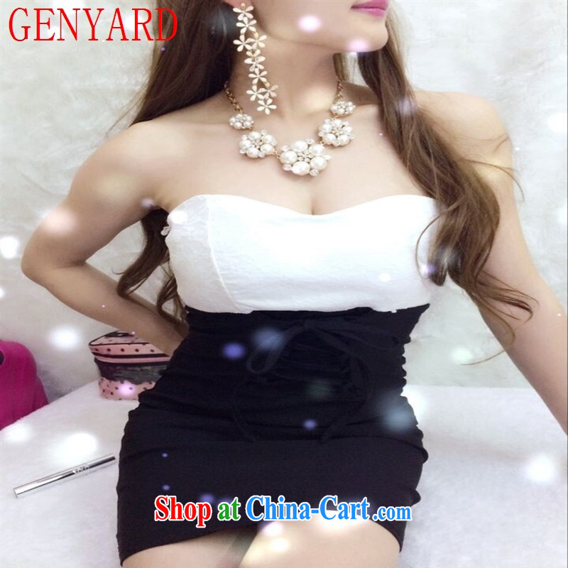Real-time GENYARD concept 2015 wiped his chest wrapped around his chest-waist color small dress dress black are code