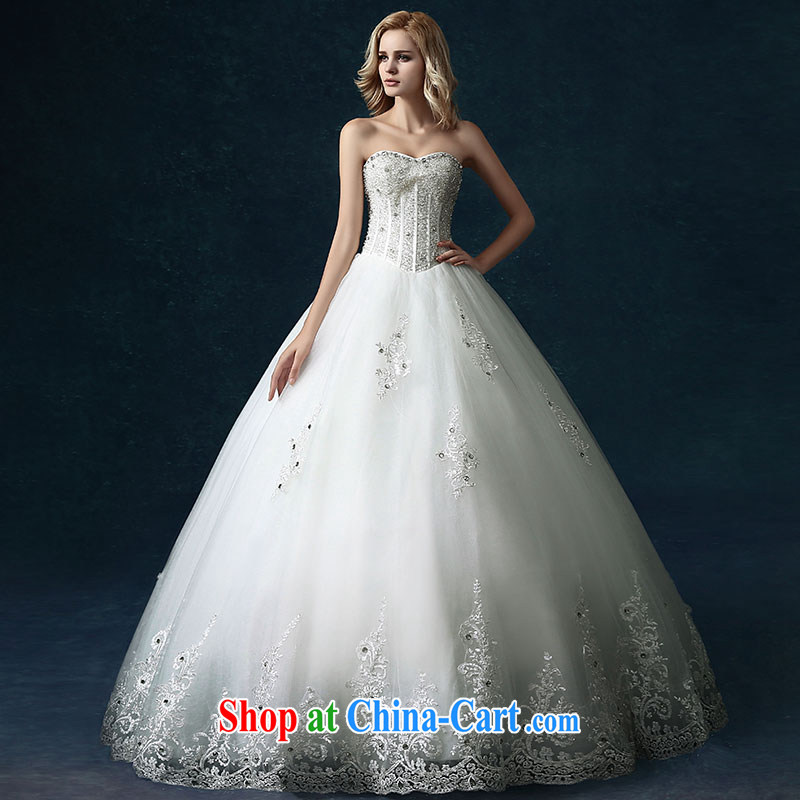 Jubilee 1000 bride's 2015 spring and summer new high-end custom European-style with bare chest bridal wedding lace wedding dresses white XL