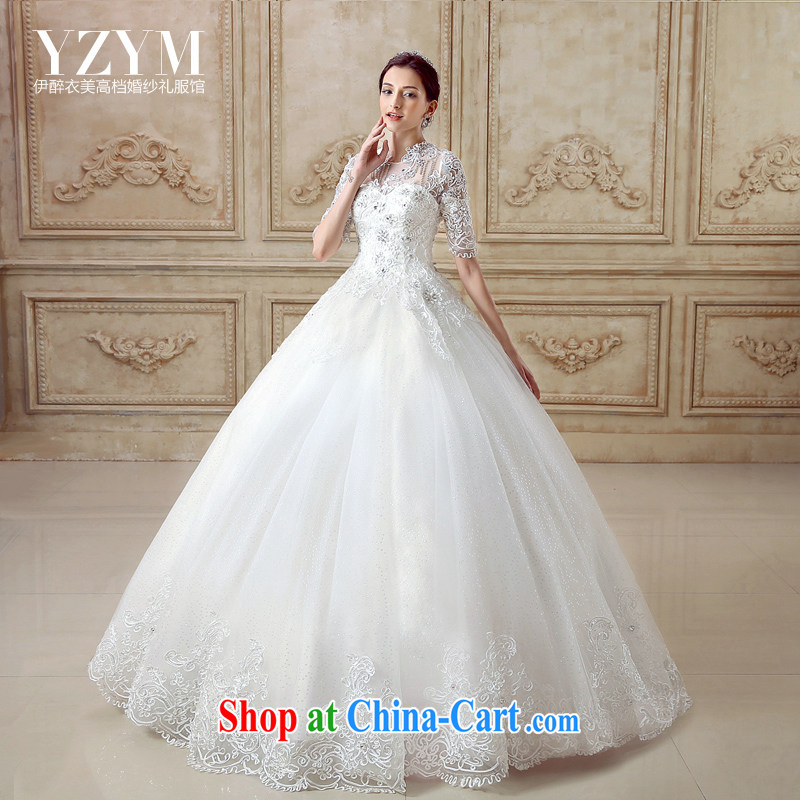 The drunken Yi Mei bridal wedding dresses 2015 summer new, three-dimensional retro lace-buckle cuff Palace style wedding bridal wedding dresses and elegant cuff in wedding with custom