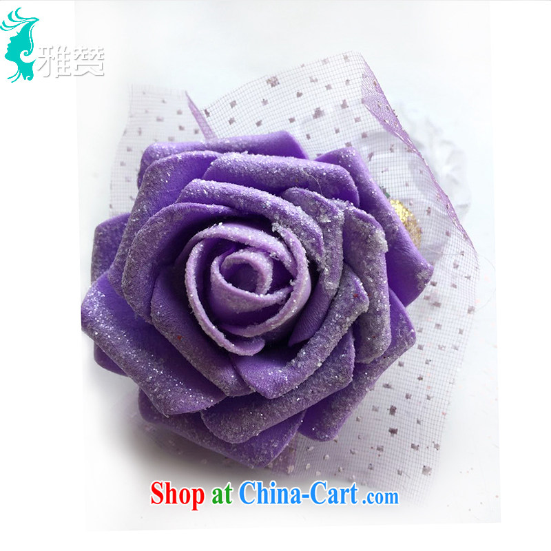 And Jacob his bride's wrist strap flower wedding dresses accessories girls roses Web yarn wrist flower red purple champagne color the flower light purple