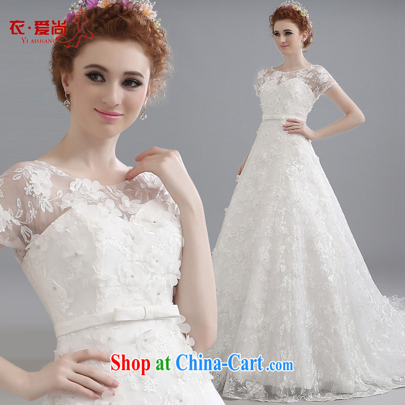 wedding dresses spring 2015 new Korean-style minimalist bride larger graphics thin-tail double-shoulder wedding a summer shoulder drill white to make the $30 does not return