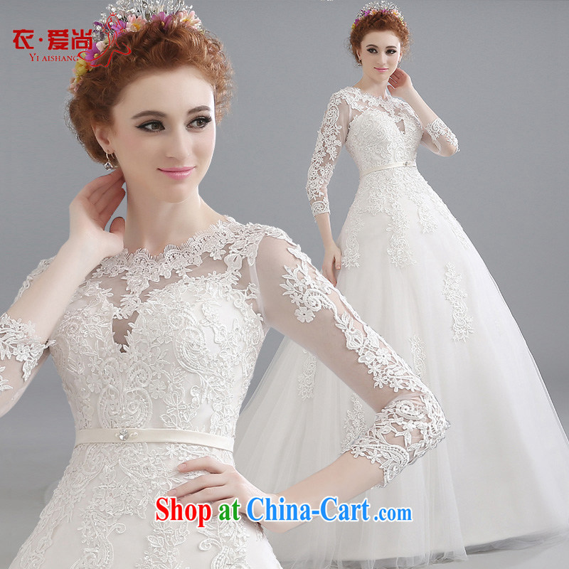 wedding dresses 2015 summer new, double-shoulder-tail Korean version lace large, stylish and cultivating the flower-tail wedding white to make the _30 does not return