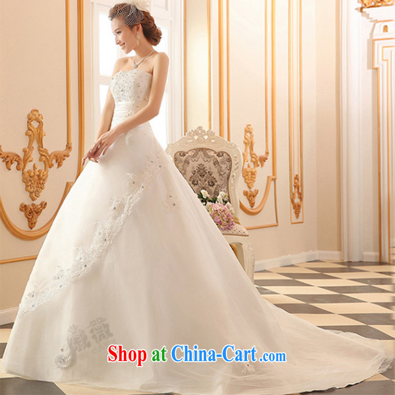 Qi wei wedding dresses 2015 summer new erase chest wedding band wedding tail wedding white wedding bridal marriage wedding tail ivory XXL Qi, Ms Audrey EU Yuet-mee, QI WAVE), online shopping