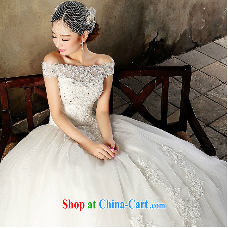 2015 bridal high quality custom field shoulder bare chest straps with spring wedding dresses red stylish long, upscale luxury photography wedding white tailored is not returned.
