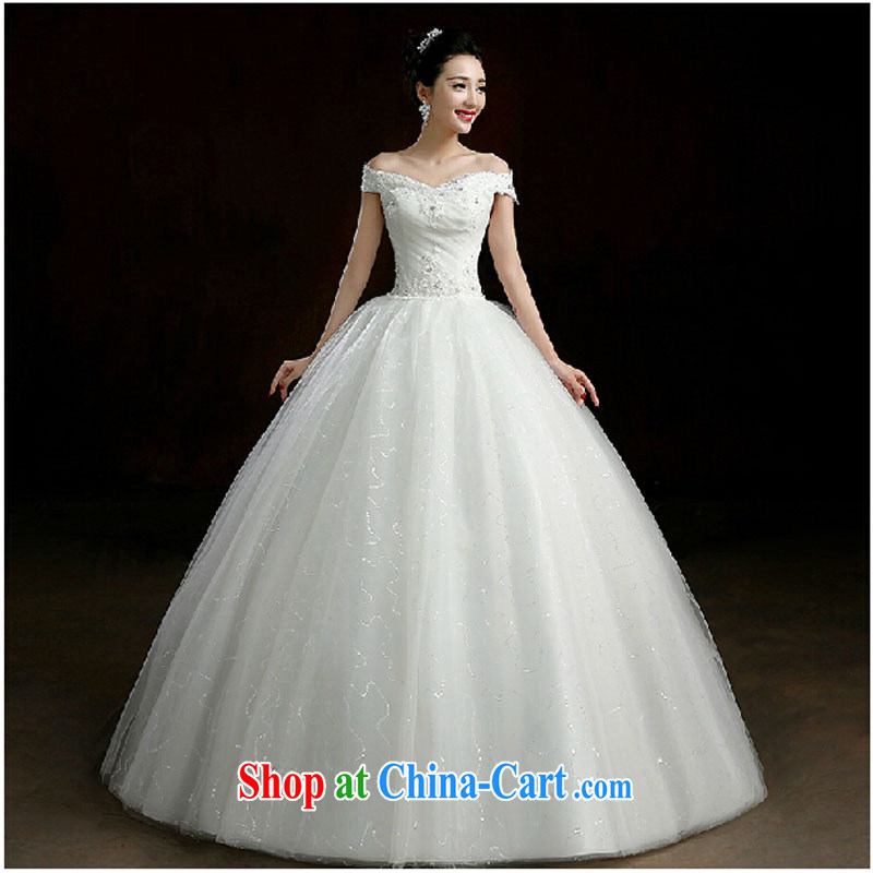 Evening Dress 2015 New Long, high Princess with wedding banquet dress dress girl bride toast wedding clothes stylish a field shoulder white tailored final