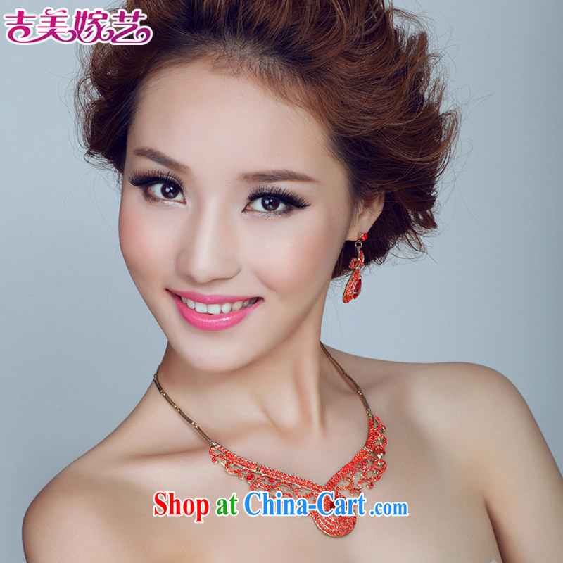 Bridal wedding dresses Accessories Kit Korean set link TL 139 water drilling jewelry 2015 new marriage necklace purple ear clip