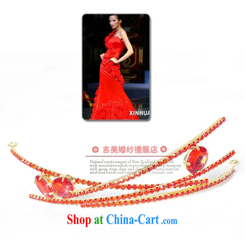 Bridal wedding dresses Accessories Kit Korean marriage and spend HG 1216 / 2015 new Marriage and take red head-dress