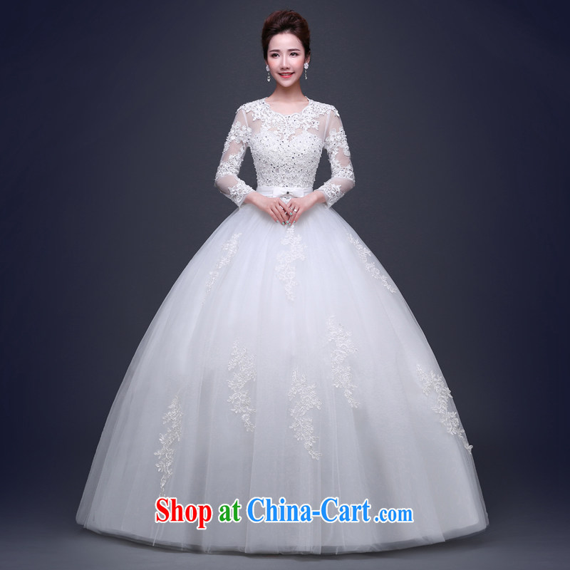 Jie MIA a Field shoulder wedding dresses 2015 new summer Korean bridal wedding flower lace larger graphics thin with strap white XXL