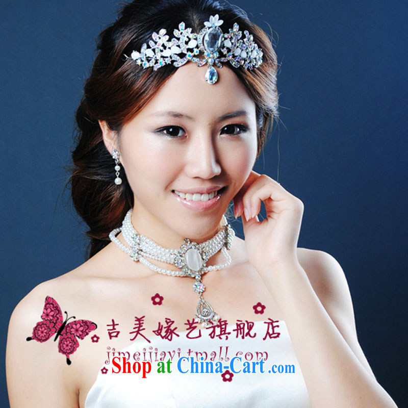 Bridal wedding dresses Accessories Kit Korean set link TL 995 water drilling jewelry 2015 new marriage necklace White ear.