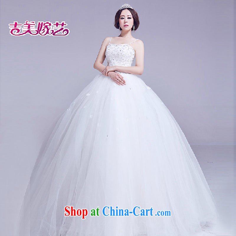 wedding dresses Jimmy married arts 2015 new strap with Korean shaggy dress with 809 HS B wedding white XXL
