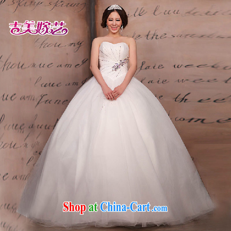 wedding dresses Jimmy married arts 2015 new erase chest Korean shaggy dress with 810 HS B bridal wedding white XXL