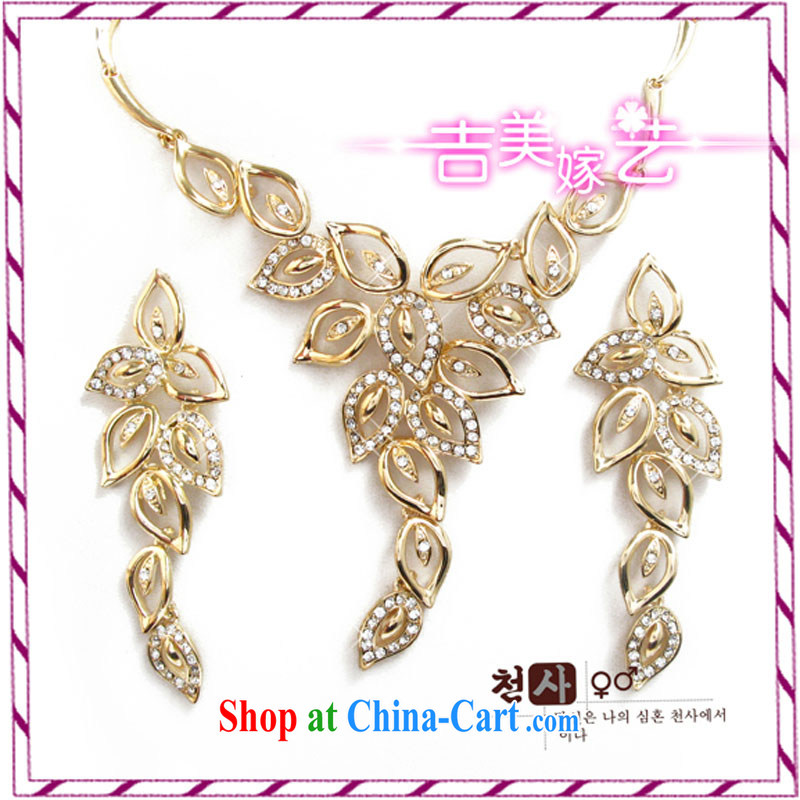 Bridal wedding dresses Accessories Kit Korean set link TL 3091 water drilling jewelry 2015 new marriage necklace White ear pin