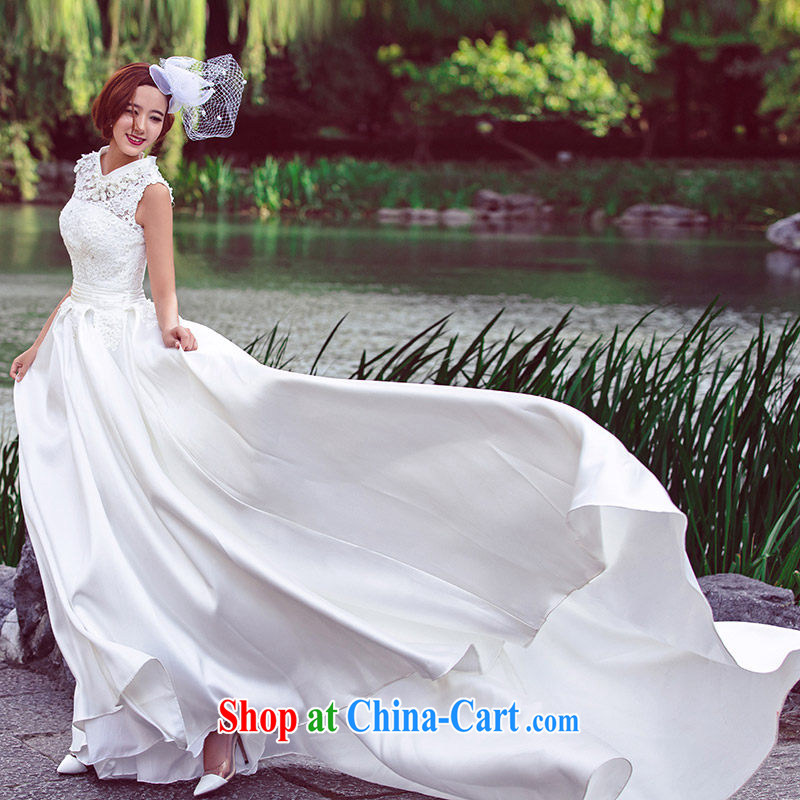 Marriage 2015 summer bridal wedding custom wedding tail wedding dresses 2612 white DZ tailored plus 20 per cent