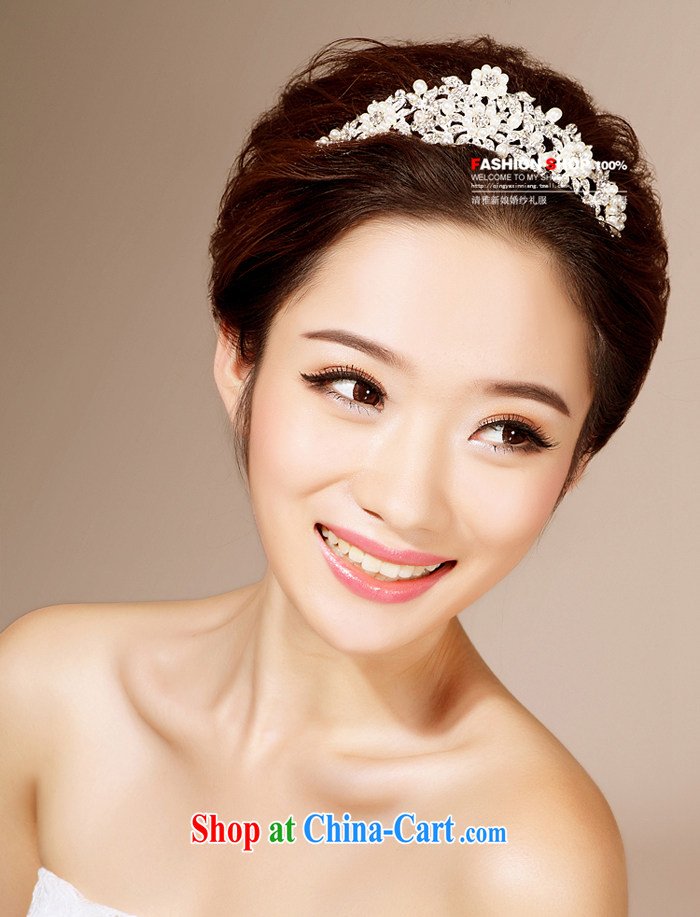 Bridal wedding dresses accessories 2015 new Korean-style head-dress HG 6121 water drilling jewelry marriage Crown white head-dress pictures, price, brand platters! Elections are good character, the national distribution, so why buy now enjoy more preferential! Health