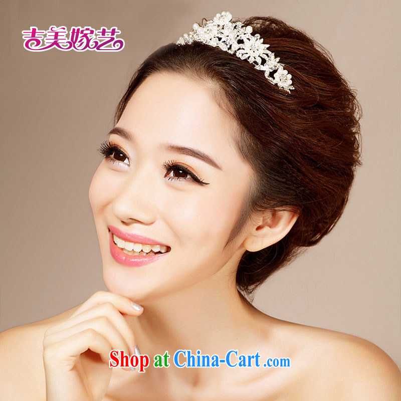 Bridal wedding dresses accessories 2015 new Korean-style head-dress HG 6121 water drilling jewelry marriage Crown white head-dress, and Jimmy married arts, shopping on the Internet