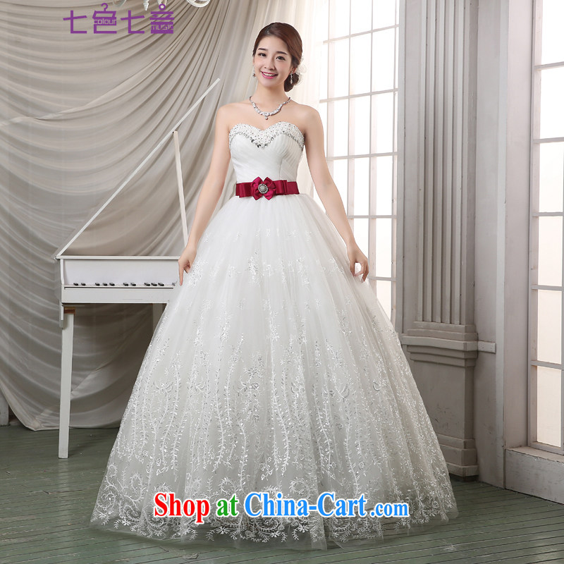 7 color 7 tone Korean version of the new, 2015 bridal white wood drill Mary Magdalene Beauty Chest with summer, wedding dresses H 064 white tailored _final_