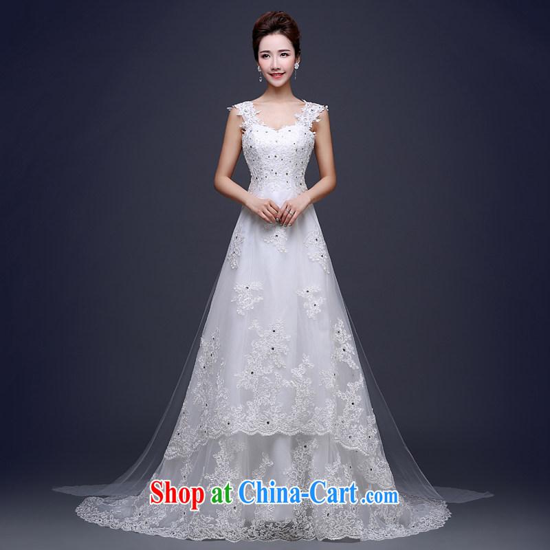 Jie MIA white shoulders sleeveless wedding dresses-tail 2015 new ...