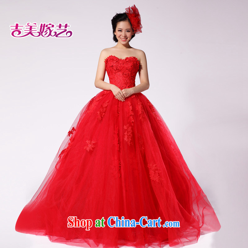 Neon bridal 2015 new lace vera wang Wang Wei HT 999 tail Red video thin wedding dresses red M