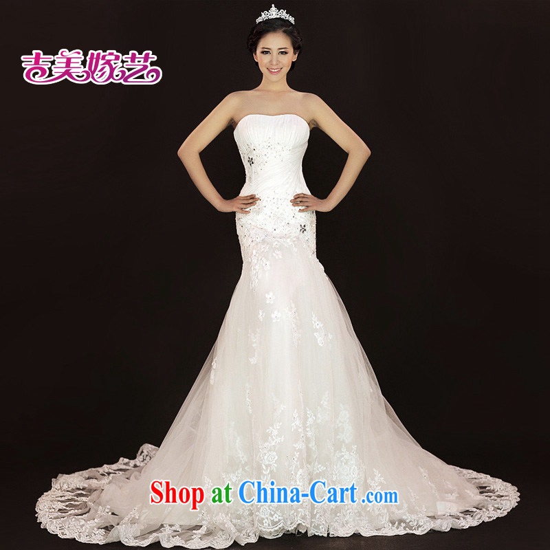 wedding dresses, marry us performing arts 2015 new erase chest Korean lace crowsfoot tail HT 936 bridal wedding white XL