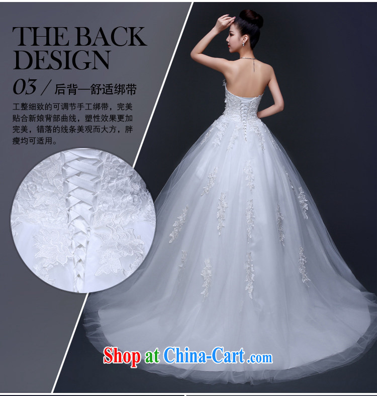 wedding dresses new 2015 red white long-tail marriage bridal lace ...