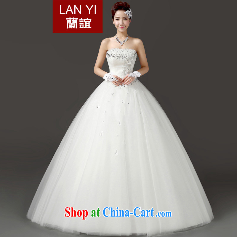 Friends, summer 2015 new bridal wedding dresses Korean water drilling erase chest graphics thin wedding wedding white with shaggy skirt wedding dress white. Do not support refund
