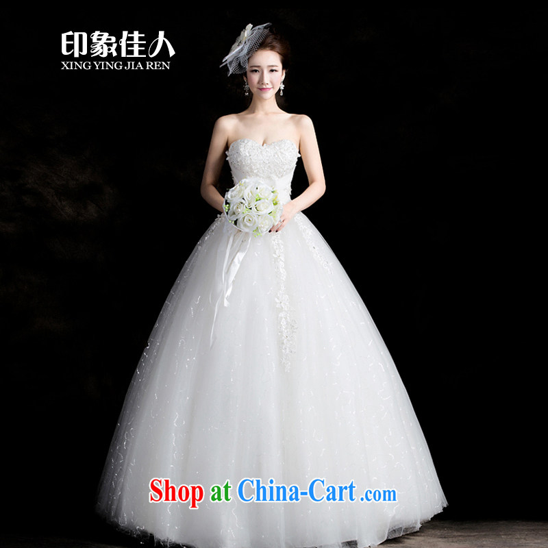 Impression Leigh 2015 new wedding dresses flowers lace retro tied with Korean Princess sweet wiped his chest, wedding beauty graphics thin S