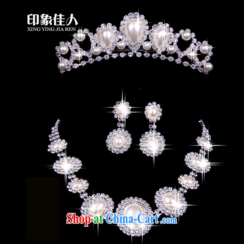 Leigh impression bridal jewelry Crown accessories necklace 3 piece wedding wedding accessories