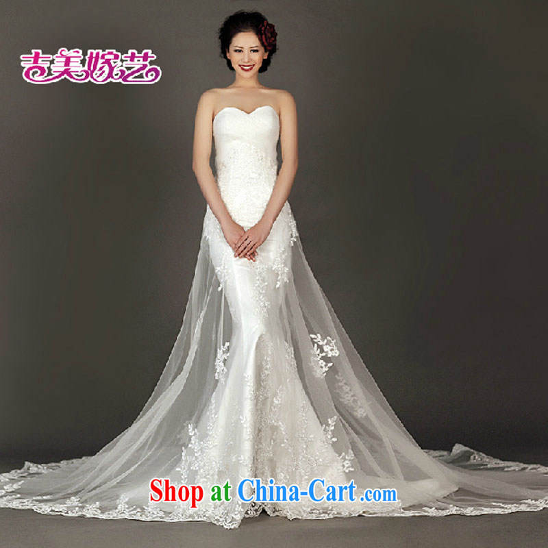 wedding dresses, marry us performing arts 2015 new erase chest Korean lace crowsfoot tail HT 934 bridal wedding white XL