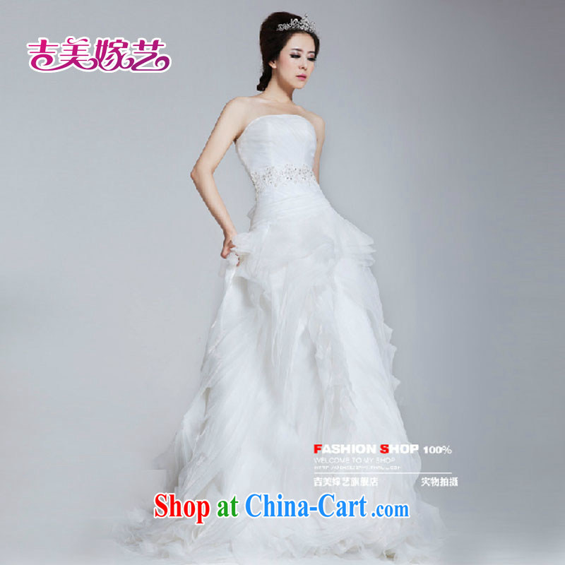 wedding dresses Jimmy married arts 2015 new Chelsea Wang Wei New Romantic softness HT 641 bridal wedding white XXXL