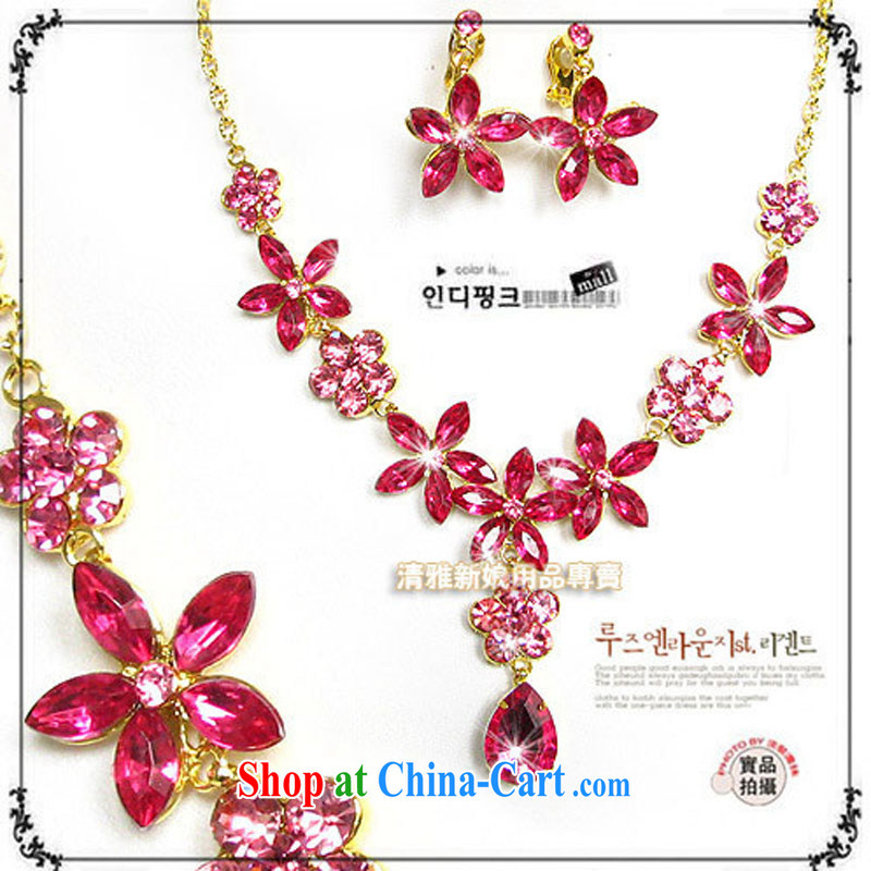 Bridal jewelry_bridal suite Link_link_flowers Kit link TL 0218 bridal suite link red ear clip
